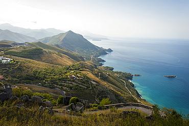Coast near Maratea, Basilicata, Italy, Europe