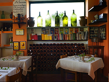 Interiors, Il Giardino Di Epicuro restaurant, the epicurean garden, Maratea, Basilicata, Italy, Europe