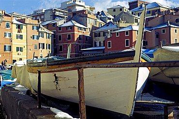 Boat, Boccadasse, Genoa, Ligury, Italy
