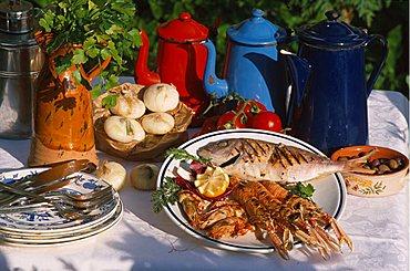 Grilled fish, Camogli, Liguria, Italy