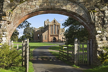 Built with stone taken from Hadrians Wall, Lanercost Abbey, Lanercost, Brampton, Cumbria, England, United Kingdom, Europe