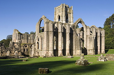 Fountains Abbey, UNESCO World Heritage Site, near Ripon, North Yorkshire, England, United Kingdom, Europe
