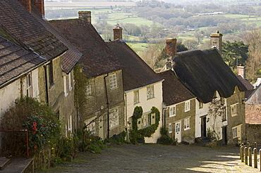 Gold Hill, Shaftesbury, Wiltshire, England, United Kingdom, Europe