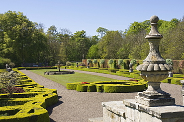 The Fountain Parterre, Delaval Hall, Seaton Delaval, Northumbria, England, United Kingdom, Europe