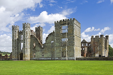 Cowdray Castle, dating from the 16th century, Midhurst, West Sussex, England, United Kingdom, Europe