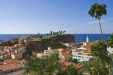 View over the rooftops of Camara de Lobos, a favourite fishing village of Sir Winston Churchill, Madeira, Portugal, Atlantic, Europe
