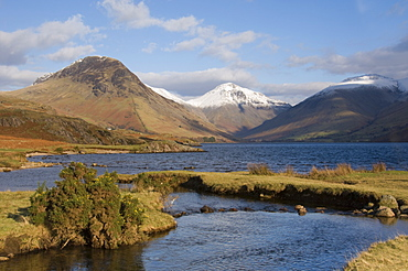 Lake Wastwater, Yewbarrow, Great Gable and Lingmell, Wasdale, Lake District National Park, Cumbria, England, United Kingdom, Europe
