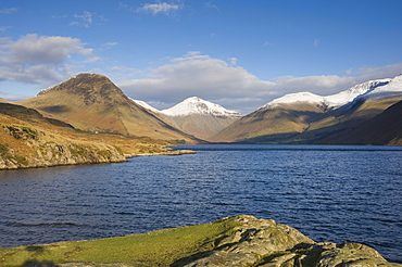 Wastwater with Yewbarrow, Great Gable, and Scafell Pike, Wasdale, Lake District National Park, Cumbria, England, United Kingdom, Europe