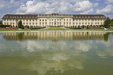 The 18th century Baroque Residenzschloss, inspired by Versailles Palace, Ludwigsburg, Baden Wurttemberg, Germany, Europe