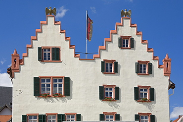 The facade of the 17th century Town Hall, Oppenheim, Rhineland Palatinate, Germany, Europe