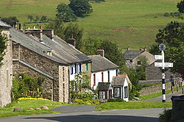 Cottages in the centre of Hesket Newmarket, John Peel Country, Cumbria, England, United Kingdom, Europe