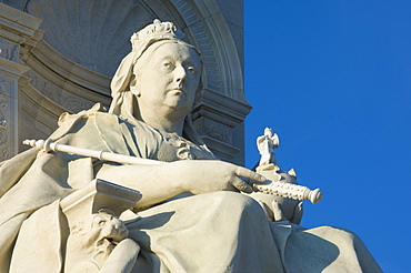 Queen Victoria, a detail from the Queen Victoria Monument, The Mall, London, England, United Kingdom, Europe