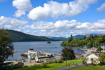 Lake Windermere from Bowness on Windermere, Lake District National Park, Cumbria, England, United Kingdom, Europe