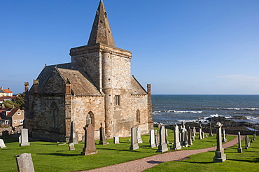 The 14th century St. Monan's Church, St. Monan, East Coast, Fife, Scotland, United Kingdom, Europe