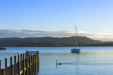 Lake Windermere, near Waterhead, Lake District National Park, Cumbria, England, United Kingdom, Europe