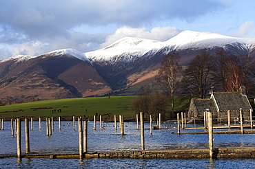 Lake Derwentwater and Skiddaw, Keswick, Lake District National Park, Cumbria, England, United Kingdom, Europe