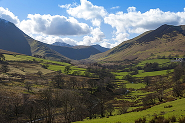 Newlands Valley, above Portinscale, Keswick, Northern Lakes, Lake District National Park, Cumbria, England, United Kingdom, Europe