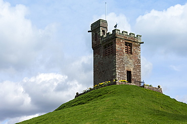 Bell Tower of St. Oswalds Church, situated on a hill above the Church, Kirkoswald, Eden Valley, Cumbria, England, United Kingdom, Europe
