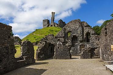 The 11th century motte and bailey castle, Okehampton, Devon, England, United Kingdom, Europe