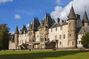 Callendar House, a 19th century mansion in French Renaissence style, Falkirk, Scotland, United Kingdom, Europe
