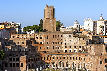 Trajans Markets, Ancient Rome, Rome, Lazio, Italy, Europe