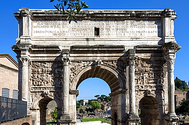 Arch of Septimus Severus, Ancient Roman Forum, UNESCO World Heritage Site, Rome, Lazio, Italy, Europe