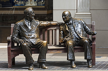 Sir Winston Churchill and President Eisenhower in Mayfair, London, England, United Kingdom, Europe