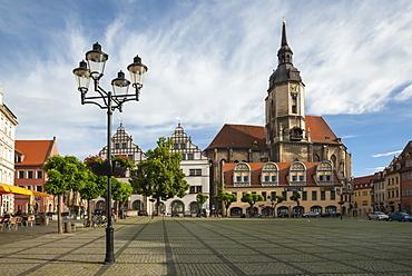 Town Square, St. Wenceslas Parish Church, Naumburg, Saxony-Anhalt, Germany, Europe