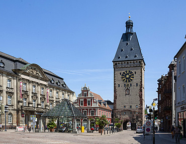 Clock Tower, Speyer, Rhineland Palatinate, Germany, Europe