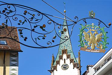 Shop sign, Engen, Baden Wurttemburg, Germany, Europe