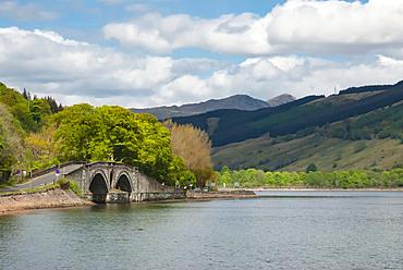 Inveraray Castle Road Bridge, Loch Fyne, Inveraray, Argyll, Scotland, United Kingdom, Europe
