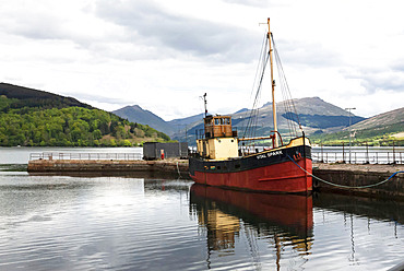 Loch Fyne, Inveraray Harbour, Vital Spark, Argyll, Scotland, United Kingdom, Europe