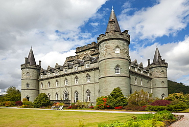 Inveraray Castle and Garden, Clan Campbell Seat, Argyll, Scotland, United Kingdom, Europe