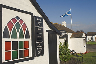 Old Blacksmiths Shop Wedding Room, Gretna Green, Dumfries, Scotland, United Kingdom, Europe