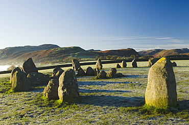 Dawn, Castlerigg Stone Circle, Keswick, Lake District, Cumbria, England, United Kingdom, Europe