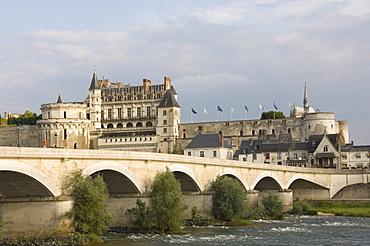 Chateau Royal d'Amboise, Indre-et-Loire, River Loire, France, Europe