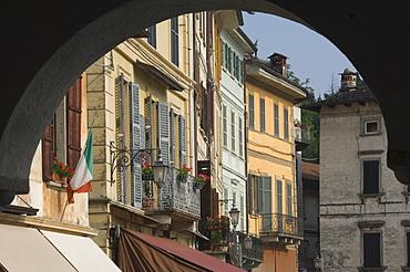 A street in Orta, Lake Orta, Italy, Europe