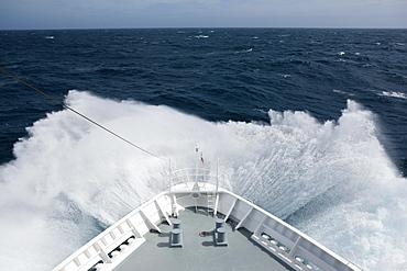 Cruise ship in high seas, Drake Passage, Antarctica, Polar Regions