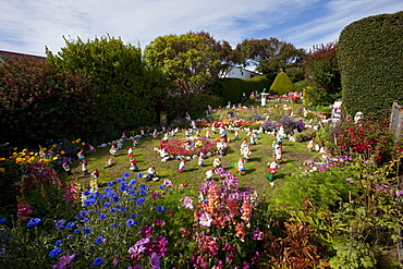 Garden gnomes, Port Stanley, Falkland Islands, South America