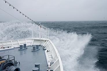 Stormy sea, Jan Mayen Island, Greenland, Arctic, Polar Regions