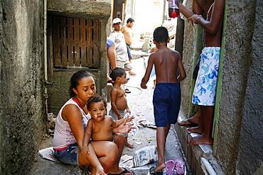 People at Rocinha favela, Rio de Janeiro, Brazil, South America