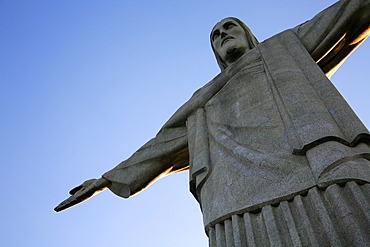 The statue of Christ the Redeemer on top of the Corcovado mountain, Rio de Janeiro, Brazil, South America