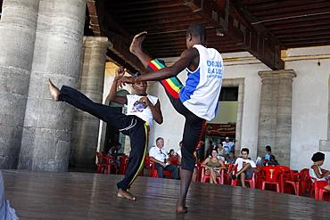 Capoeira performance at Mercado Modelo, Salvador (Salvador de Bahia), Bahia, Brazil, South America