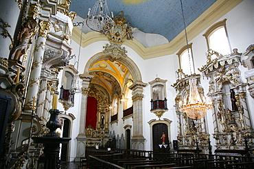 Interior of Igreja de Nossa Senhora do Carmo (Our Lady of Mount Carmel) church, Ouro Preto, UNESCO World Heritage Site, Minas Gerais, Brazil, South America
