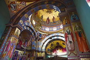 The Greek Orthodox Church of the Twelve Apostles in Capernaum by the Sea of Galilee (Lake Tiberias), Israel, Middle East