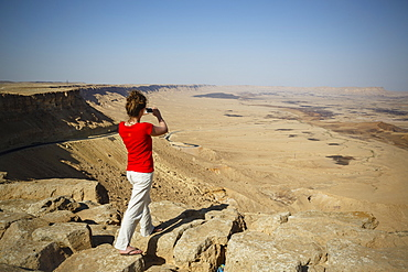 View over the Ramon crater, Mitzpe Ramon, Negev region, Israel, Middle East