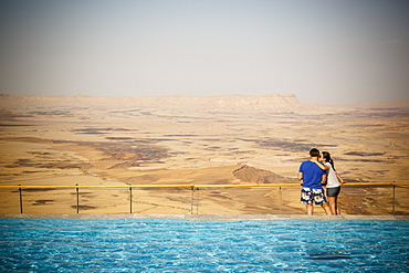 View over the Ramon crater seen from Beresheet hotel, Mitzpe Ramon, Negev region, Israel, Middle East