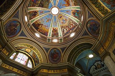 Ceiling in the Church of the Carmelite Stella Maris Monastery on Mount Carmel, Haifa, Israel, Middle East