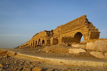 The Roman aqueduct, Caesarea, Israel, Middle East