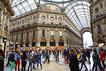 Galleria Vittorio Emanuele II, Milan, Lombardy, Italy, Europe